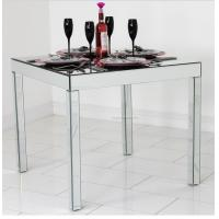 Buy cheap Full Mirror Glass Dining Table , Silver Square Mirror Top Dining Table product