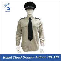 Cheap Lightweight Security Guard Shirts Long Sleeves With Adjustable Cuffs , Logo Printed wholesale