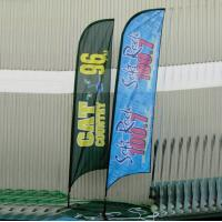 Buy cheap Advertising Feather Flags , outdoor Flying banners for Tradeshow product