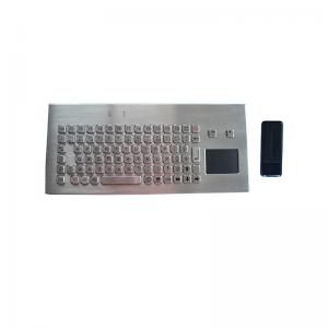 Buy cheap IP67 Ruggedized Wireless Industrial Keyboard 2.4G Stainless Steel product