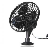 China Black 4 Plastic Car Cooling Fan DC 12V Oscillating With On/Off Switch on sale