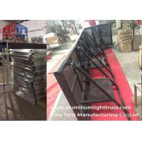 Buy cheap Road Fence Crowd Control Barriers , Crowd Control Stands Avalized Surface product