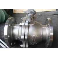 China 2 Piece Full Bore Ball Valve With Pneumatic Actuator Directing Mounted Pad Single Acting on sale