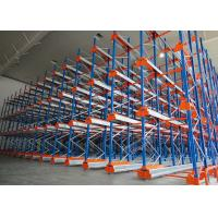 Buy cheap Semi Automatic Heavy Duty Storage Racks 50 Pallets Deep Shuttle Storage System product