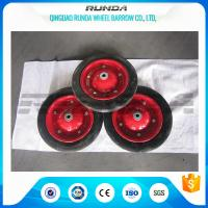 Narual Solid Rubber Wheels , Bush Bearing Solid Rubber Wheelbarrow Tires TUV