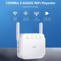 Buy cheap AC 100~240V 2.4G 5G Wireless 1200M Wifi Signal Repeater from wholesalers