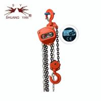 China Vertical Wear Resisting Manual Chain Block Stable Rotation Lightweight on sale