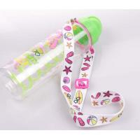 China Good quality flat polyester sublimation printing wine glass holder lanyard on sale