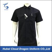 Cheap Custom Design Black Security Guard Shirts , Tactical Work Shirt For Duty wholesale