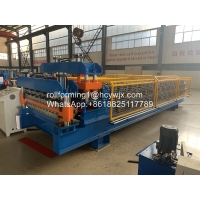 Buy cheap CE Double Layer Steel Sheet Roof Forming Machine product