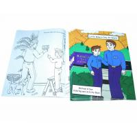 Buy cheap Business Promotion Childrens Coloring Books 200gsm Glossy Art Paper Material product
