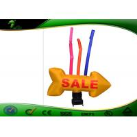 Buy cheap Customized Logo Inflatable Advertising Man , Inflatable Sky Dancer With Arrow product