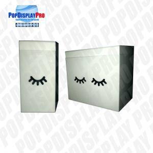 Buy cheap Silk Screen Black Printed Merchandising Shelf Promote Eye Lash Extension product