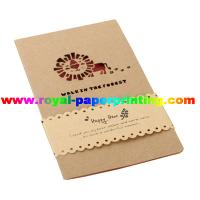 China customize die cutting and colorful printed paper cards/greeting cards on sale
