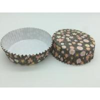 Buy cheap Round Flower Printed Cupcake Liners , Disposable Muffin Paper Cups Heat Resistant product