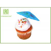 Buy cheap 100% Birch Wood Wedding Cupcake Toppers Cupcake Toothpicks With Flag product
