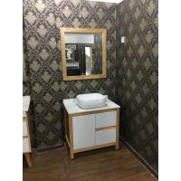 Buy cheap Contemporary Square Sinks Bathroom Vanities With Mirror / 32 Inch White Bathroom Vanity from wholesalers
