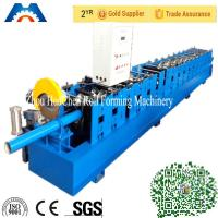 Buy cheap 100mm Round Downspout Pipe Roll Forming Machine Fly Saw Cutting Type product