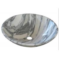 China Arabescato Basin Marble Stone Sink Bowl Anti - Stain With Polished Surface on sale