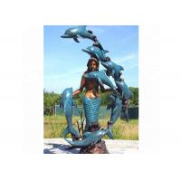 Buy cheap Life Size Western Bronze Statue Dolphin And Mermaid Sculpture For Casting Finish product