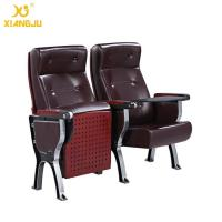 Buy cheap Aluminum Alloy plywood cover leather Auditorium Chairs with ABS Tablet  360° Turning product