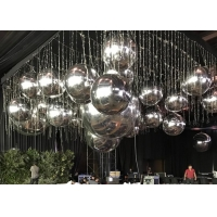 Buy cheap 1m 2m 3m Floating Reflective Mirror Balloon silk printing product