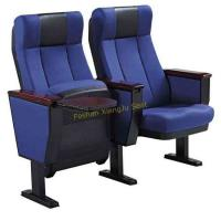 Buy cheap Aluminum Legs Fabric Tip Up Auditorium Chairs With Book Net / Cup Holder from wholesalers