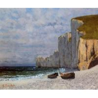 Impressionist(3830) A Bay with Cliffs