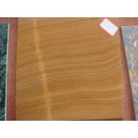 Buy cheap Marble Tile Wood Grain Yellow product
