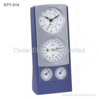 China Analog Weather Station Clock on sale