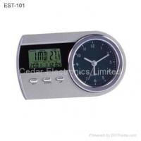 China Analog Table Alarm Clock with LCD Calendar on sale