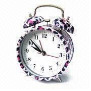 Buy cheap Alarm Clock with Leopard Pattern Design Printing, Customized Logos and Dials are Accepted from wholesalers
