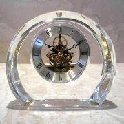 Buy cheap Crystal Clock with Brass Skeleton Movement, Customized Designs are Accepted from wholesalers