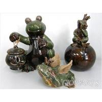 Buy cheap Frog Porcelain Frog Figurine from wholesalers