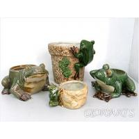 Buy cheap Planter & Pot Porcelain Planter w/ Frog Figurine from wholesalers