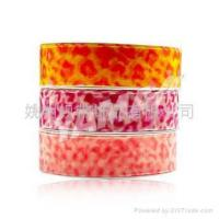 Buy cheap leopard spots organza ribbon product