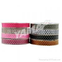 Buy cheap Sheer Printed Dot Ribbon Printed sheer ribbon product