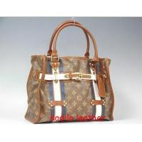 Buy cheap LV Louis Vuitton handbag purse Monogram canvas Rayures Tote PM m56385 red Bag from wholesalers