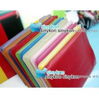 Buy cheap wholesale 10pcs/lot Red New luxurious Leather Case for iPad+free shipping product