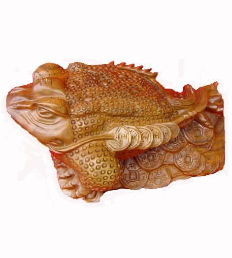 Quality Wooden Handicraft Woodcarving Fortune toad for sale