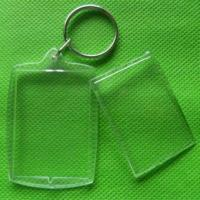 Buy cheap rectangle Acrylic Blank keychain product