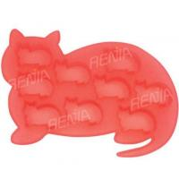 Buy cheap RENJIA cat ice cube tray cat shape silicone ice tray silicone ice cube tray cat shape product