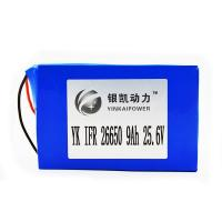 China IFR 26650N-25.9V 9Ah LiFePO4 Battery Pack on sale