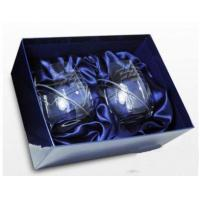 Anniversary Gifts Swarovski Heart Crystal Pair of engraved Whisky Glasses