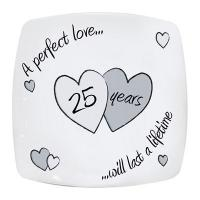 Buy cheap Anniversary Gifts Perfect Love Silver Anniversary Plate product