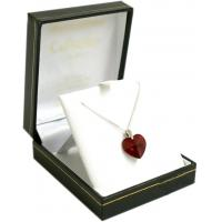 Buy cheap Anniversary Gifts Red Crystal heart Pendant on silver chain product