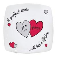 Buy cheap Anniversary Gifts Perfect Love Ruby Anniversary Plate product