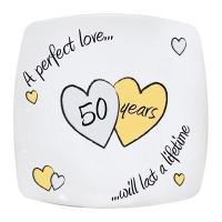 Buy cheap Anniversary Gifts Perfect Love Golden Anniversary Plate product