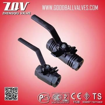 China forged steel floating ball valves