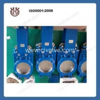 China Flange type knife knife gate valve with pneumatic actuator rising stem gate valve on sale